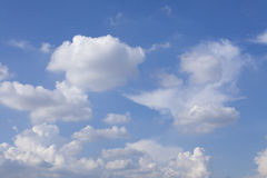 White fluffy clouds and blue sky Royalty Free Stock Photography