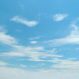 White fluffy clouds Royalty Free Stock Image