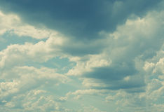 White fluffy clouds Royalty Free Stock Images