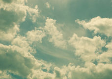 White fluffy clouds Royalty Free Stock Photo