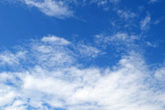 White fluffy clouds in the blue sky Royalty Free Stock Photography