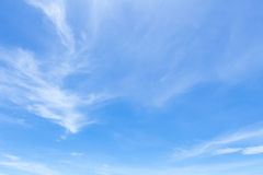 White fluffy clouds in the blue sky.  Royalty Free Stock Images