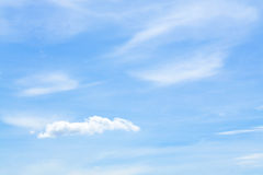 White fluffy clouds in the blue sky. Beautiful white fluffy clouds in the blue sky Royalty Free Stock Photos