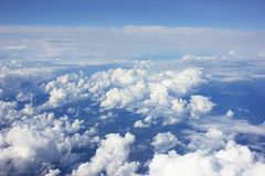 White fluffy Clouds Royalty Free Stock Photography