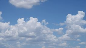 White fluffy Clouds forming over Arizona. White fluffy Clouds forming over blue Arizona sky stock video