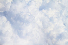 White fluffy clouds full size Royalty Free Stock Photography