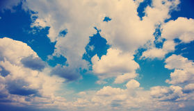 White fluffy clouds over blue sky. Royalty Free Stock Images