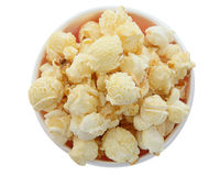 White Fluffy Popcorn in Bowl Stock Image
