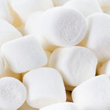 White Fluffy Round Marshmallows as a background. Sweet  Food Ca Royalty Free Stock Photo