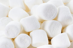 White Fluffy Round Marshmallows as a background. Sweet  Food Ca Stock Photography
