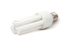 White fluorescent lamp Stock Images