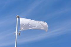 White flying flag Royalty Free Stock Image