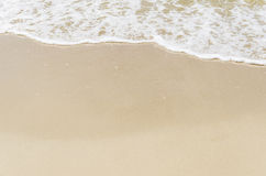White foam on beach Royalty Free Stock Images