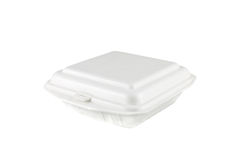 White foam box Royalty Free Stock Images