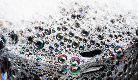 White foam with bubbles Royalty Free Stock Photo