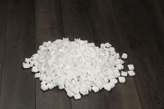 White foam pellets Royalty Free Stock Photography