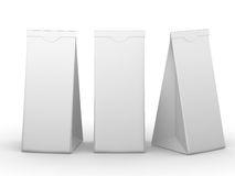 White folded paper bag with clipping path Royalty Free Stock Photography