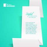 White folded paper. Royalty Free Stock Image