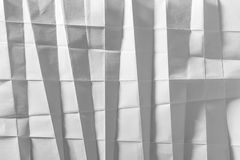 White folded paper royalty free stock photo