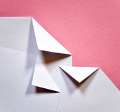 White folded papers Royalty Free Stock Images