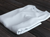 White folded t-shirt Royalty Free Stock Photo
