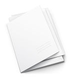 White folder with blank titular cover Stock Images