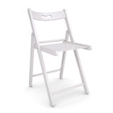 White folding chair Stock Photos