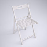 White folding chair Stock Photography