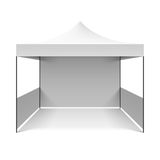 White folding tent vector illustration