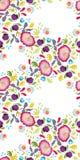 White folk art festoon with pink flower. vector illustration