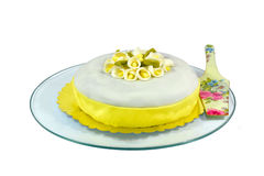 White Fondant Cake Royalty Free Stock Image