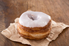 White fondant croissant and donut mixture Stock Photography