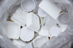 White food boxes for recycle Royalty Free Stock Photography