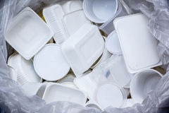 White food boxes for recycle Royalty Free Stock Image