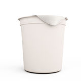 White food kontener for yogurts close-up Stock Photo