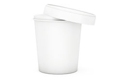 White Food Plastic Tub Bucket Container For Dessert, Yogurt, Ice Stock Photography