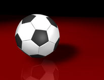 White Football 3d Royalty Free Stock Images