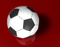 White Football 3d Royalty Free Stock Image