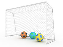 White football goal #7 Royalty Free Stock Photos