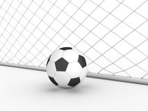 White football goal #2 Stock Photo
