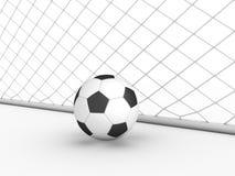 White football goal #2 Stock Photo