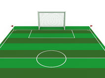 White football goal #1 Stock Images