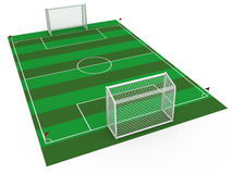 White football goal #4 Royalty Free Stock Images