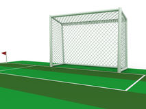 White football goal #2 Stock Images