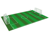 White football goal #7 Royalty Free Stock Photography