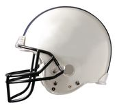 White Football Helmet. A generic white football helmet Royalty Free Stock Image