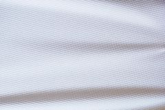 White football jersey clothing fabric texture sports wear Royalty Free Stock Photos