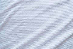 White football jersey clothing fabric texture sports wear Stock Photography