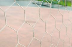 White football net Stock Photos