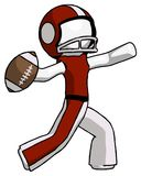 White Football Player Man throwing football. Toon Rendered 3d Illustration Royalty Free Stock Photos